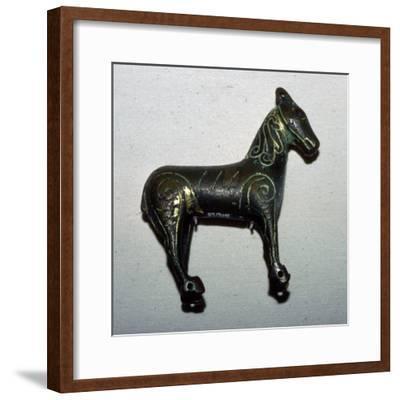 Bronze horse-shaped weather vane. Artist: Unknown-Unknown-Framed Giclee Print