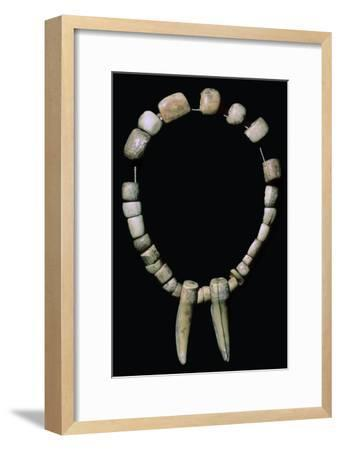 Neolithic necklace of bone and teeth. Artist: Unknown-Unknown-Framed Giclee Print