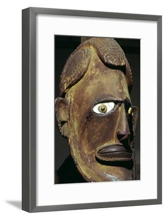 Head of a wooden figure from New Ireland, Melanesian. Artist: Unknown-Unknown-Framed Giclee Print