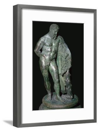 Statuette of Hercules resting. Artist: Unknown-Unknown-Framed Giclee Print