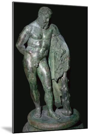 Statuette of Hercules resting. Artist: Unknown-Unknown-Mounted Giclee Print