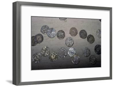 Coins from the Cuerdale Hoard. Artist: Unknown-Unknown-Framed Giclee Print