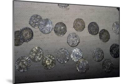 Coins from the Cuerdale Hoard. Artist: Unknown-Unknown-Mounted Giclee Print