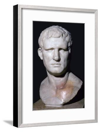Bust of Agrippa, 1st century BC. Artist: Unknown-Unknown-Framed Giclee Print