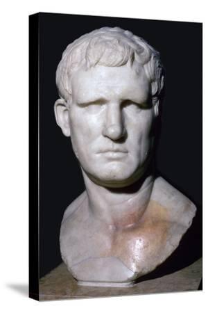 Bust of Agrippa, 1st century BC. Artist: Unknown-Unknown-Stretched Canvas Print