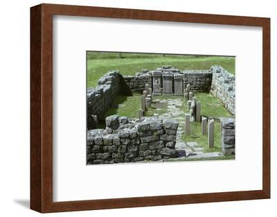 Shot of a Mithraic temple near Hadrian's Wall. Artist: Unknown-Unknown-Framed Photographic Print