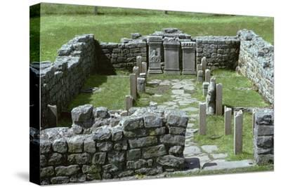 Shot of a Mithraic temple near Hadrian's Wall. Artist: Unknown-Unknown-Stretched Canvas Print