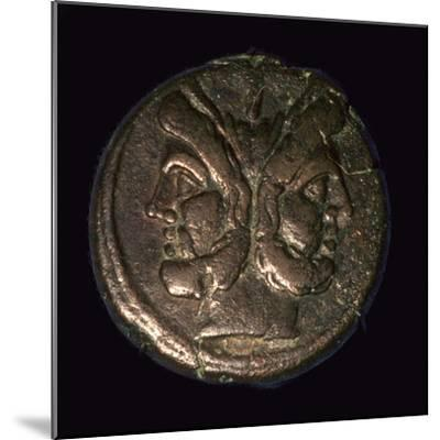Bronze Roman republican As, 1st century. Artist: Unknown-Unknown-Mounted Giclee Print