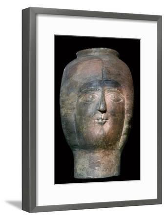 Romano-British pot in the form of a head. Artist: Unknown-Unknown-Framed Giclee Print