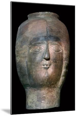 Romano-British pot in the form of a head. Artist: Unknown-Unknown-Mounted Giclee Print