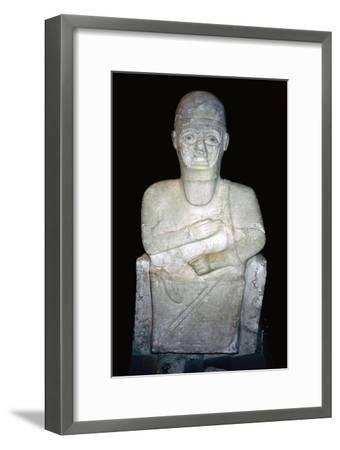 Statue of Idrimi, Late Bronze Age/Syrian, 16th century BC. Artist: Unknown-Unknown-Framed Giclee Print