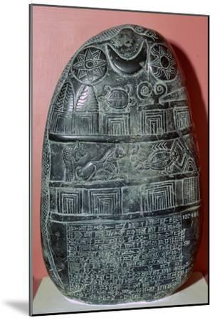 Babylonian boundary-stone recording a gift of land. Artist: Unknown-Unknown-Mounted Giclee Print