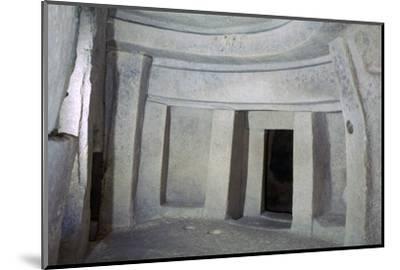 Interior of the Hypogeum of Hal Saflieni on Malta. Artist: Unknown-Unknown-Mounted Photographic Print