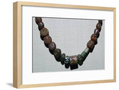 Anglo-Saxon glass necklace, 5th century. Artist: Unknown-Unknown-Framed Giclee Print