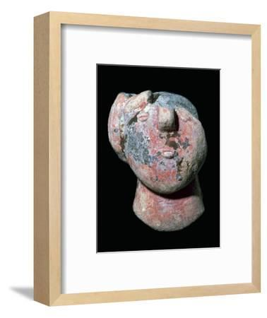 Copper age pottery head. Artist: Unknown-Unknown-Framed Giclee Print