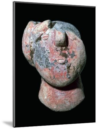 Copper age pottery head. Artist: Unknown-Unknown-Mounted Giclee Print