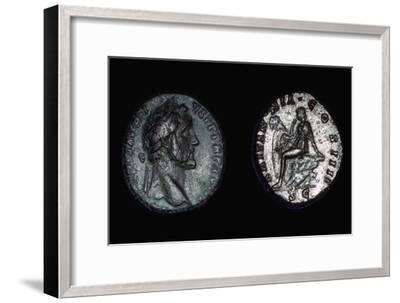 Roman coin of Vespasian, 1st century. Artist: Unknown-Unknown-Framed Giclee Print