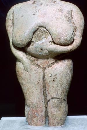 Fat lady statuette, (3500-2300 BC) Artist: Unknown-Unknown-Framed Giclee Print
