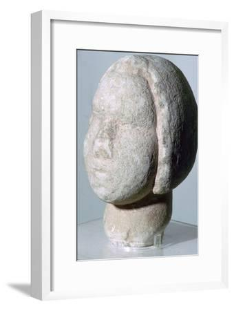 Stone head of 'Fat Lady'. Artist: Unknown-Unknown-Framed Giclee Print