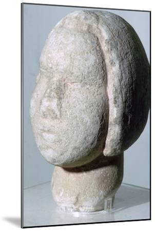 Stone head of 'Fat Lady'. Artist: Unknown-Unknown-Mounted Giclee Print
