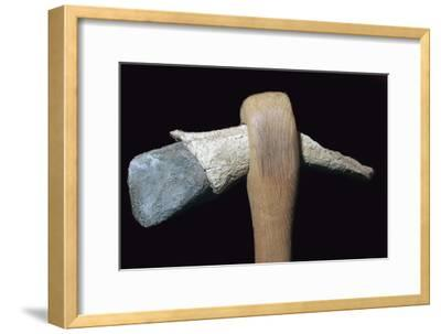 Neolithic stone axe. Artist: Unknown-Unknown-Framed Giclee Print