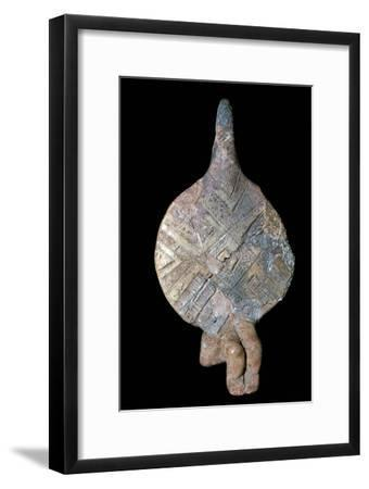 Seated fiddle-idol, 21st century BC. Artist: Unknown-Unknown-Framed Giclee Print