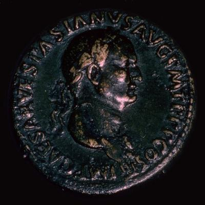 Roman coin of Vespasian. Artist: Unknown-Unknown-Framed Giclee Print