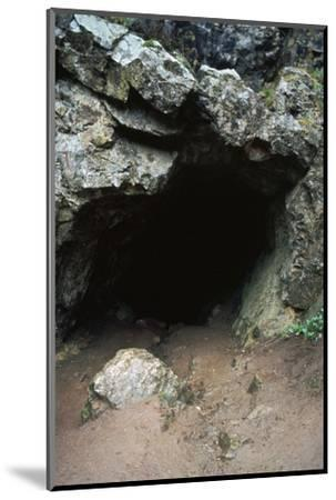 Aveline's hole, a paleolithic cave dwelling, 12000 BC. Artist: Unknown-Unknown-Mounted Photographic Print