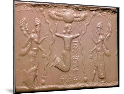 Neo-Assyrian cylinder-seal impression. Artist: Unknown-Unknown-Mounted Giclee Print