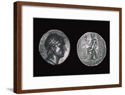 Silver four drachms of King Antiochus III. Artist: Unknown-Unknown-Framed Giclee Print