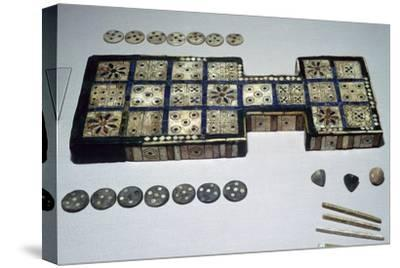 The Royal Game of Ur, from Ur, southern Iraq, c2600-c2400 BC. Artist: Unknown-Unknown-Stretched Canvas Print