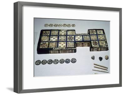 The Royal Game of Ur, from Ur, southern Iraq, c2600-c2400 BC. Artist: Unknown-Unknown-Framed Giclee Print