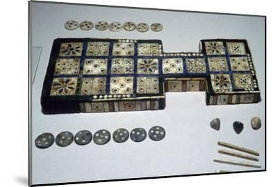 The Royal Game of Ur, from Ur, southern Iraq, c2600-c2400 BC. Artist: Unknown-Unknown-Mounted Giclee Print