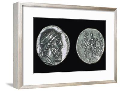 Silver tetradrachm of Mithradates I, Parthian, from Iran, 171-138 BC. Artist: Unknown-Unknown-Framed Giclee Print