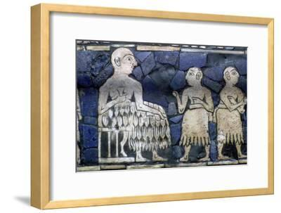 Detail of the Sumerian ruler from the Standard of Ur, about 2600-2400 BC.. Artist: Unknown-Unknown-Framed Giclee Print