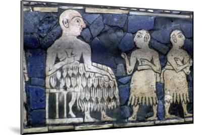 Detail of the Sumerian ruler from the Standard of Ur, about 2600-2400 BC.. Artist: Unknown-Unknown-Mounted Giclee Print