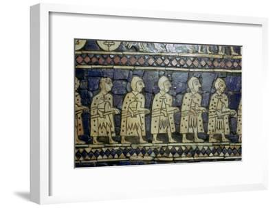Detail of Sumerian soldiers from the Royal Standard of Ur, about 2600-2400 BC. Artist: Unknown-Unknown-Framed Giclee Print