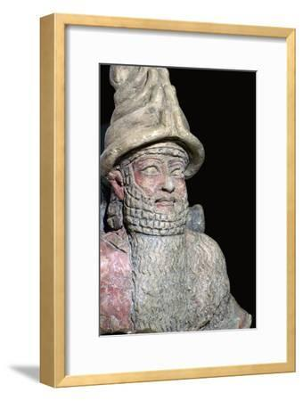 Terracotta statue of a great god from Ur. Artist: Unknown-Unknown-Framed Giclee Print