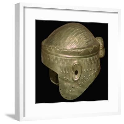 Babylonian helmet of Prince Meskalamdur. Artist: Unknown-Unknown-Framed Giclee Print