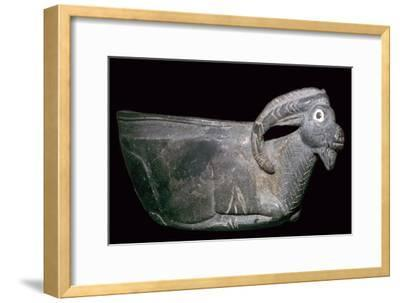 Persian cup in the form of a Mouflon. Artist: Unknown-Unknown-Framed Giclee Print