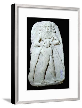Babylonian terracotta plaque of Gilgamesh. Artist: Unknown-Unknown-Framed Giclee Print