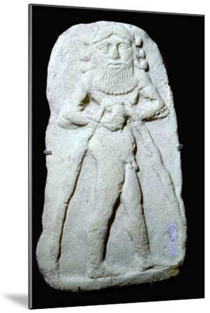 Babylonian terracotta plaque of Gilgamesh. Artist: Unknown-Unknown-Mounted Giclee Print