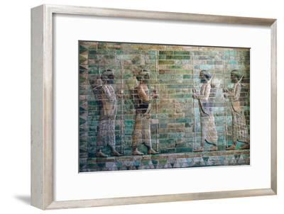 Persian relief of archers of the Persian Royal Guard. Artist: Unknown-Unknown-Framed Giclee Print