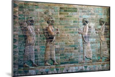 Persian relief of archers of the Persian Royal Guard. Artist: Unknown-Unknown-Mounted Giclee Print