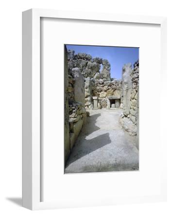 Hagar Qim temple on Malta. (c.3000 BC) Artist: Unknown-Unknown-Framed Photographic Print