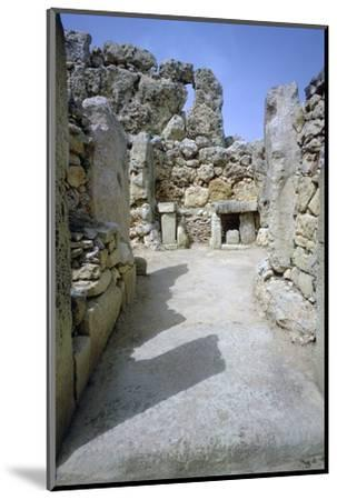 Hagar Qim temple on Malta. (c.3000 BC) Artist: Unknown-Unknown-Mounted Photographic Print