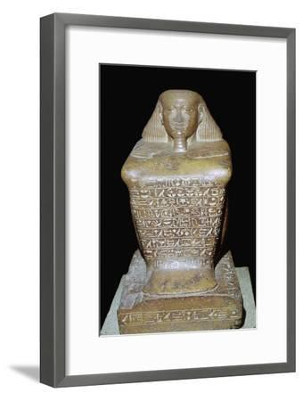 Egyptian statuette of Senenmut. Artist: Unknown-Unknown-Framed Giclee Print