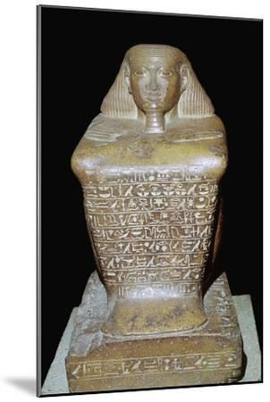 Egyptian statuette of Senenmut. Artist: Unknown-Unknown-Mounted Giclee Print