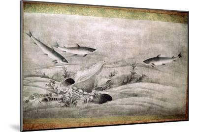 Japanese painting of fish. Artist: Unknown-Unknown-Mounted Giclee Print
