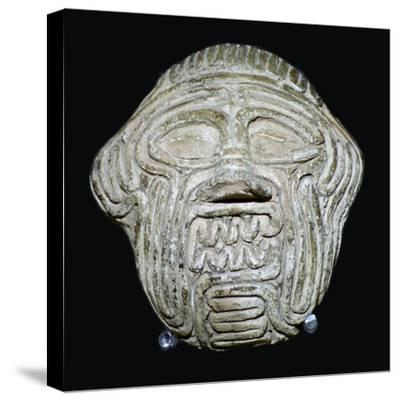 Clay mask of the demon Humbaba. Artist: Unknown-Unknown-Stretched Canvas Print
